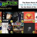 Ten Blind Raccoon Artists On RMR's Blues Album Chart for 10/21/17